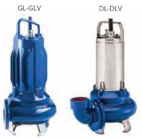 lowara large submersible wasterwater pump GL and DL series