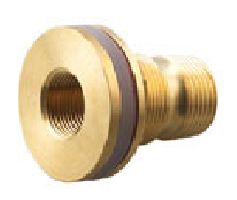 BRASS TANK OUTLET MALE & FEMALE THREAD