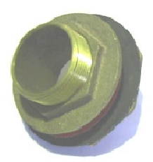 MALE THREAD-PLAIN BORE & WIDE FLANGE BRASS OUTLET