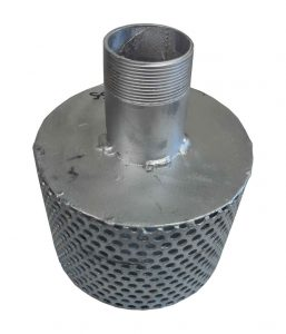 Strainer-with-drawdown-tube