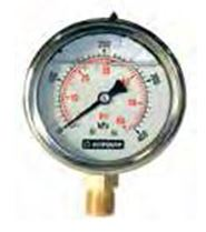 63mm liquid filled lower mount pressure gauge