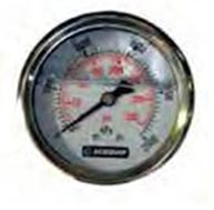 63mm liquid filled rear mount pressure gauge