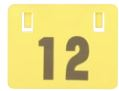 240mm Fence Sign Yellow